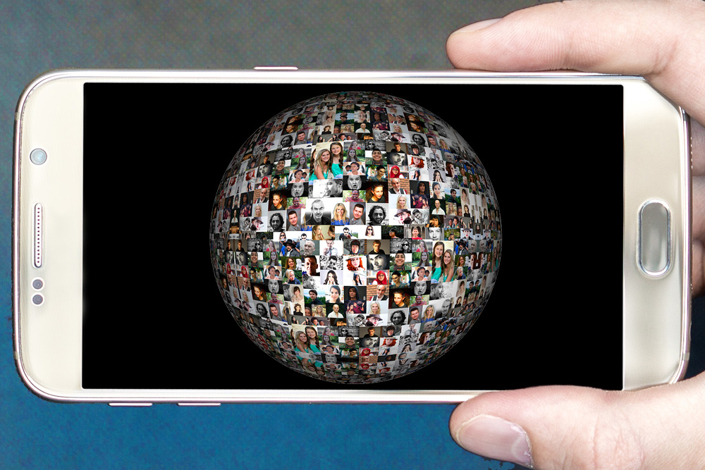 World on phone